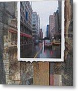 Rain Wisconcin Ave Tall View Metal Print
