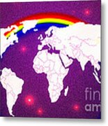 Rainbow's World 20 Metal Print