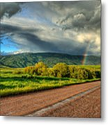 Rainbow After The Storm Metal Print by John McArthur