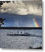 Rainbow At Burt Lake Metal Print