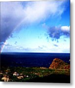 Rainbow At Punta Banda Metal Print