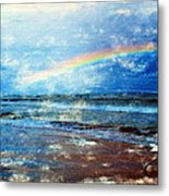 Rainbow At Skagen Metal Print