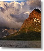 Rainbow At Sunrise - Panorama Metal Print