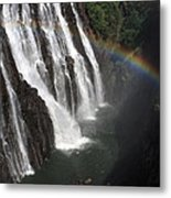 Rainbow At Victoria Falls Metal Print