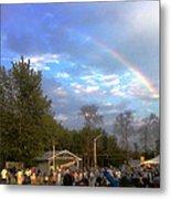 Rainbow At Wind Gap Park Metal Print