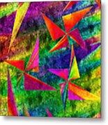 Rainbow Bliss - Pin Wheels - Painterly - Abstract - V Metal Print