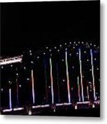 Rainbow Bridge And Super Moon Metal Print