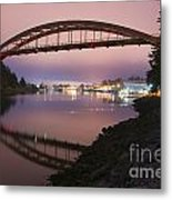 Rainbow Bridge Laconner Metal Print