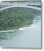 Rainbow Bridge Over Niagara Metal Print