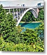 Rainbow Bridge View Metal Print