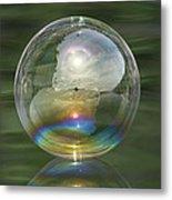 Sun Halo Rainbow Bubble Metal Print