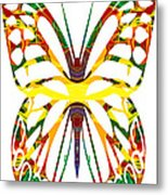 Rainbow Butterfly Abstract Nature Artwork Metal Print