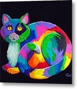 Rainbow Calico Metal Print