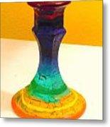 Rainbow Candlestick Metal Print