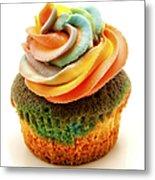 Rainbow Cupcake  Metal Print