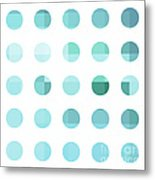 Rainbow Dots Aqua  Metal Print