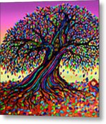 Rainbow Dreams And Falling Leaves Metal Print