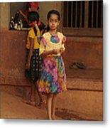 Rainbow Dress. Indian Collection Metal Print