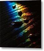 Rainbow Drops Metal Print