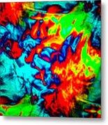 Rainbow Dye Metal Print