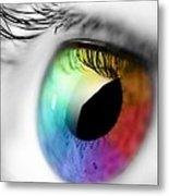 Rainbow Eye Metal Print