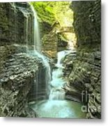 Rainbow Falls Bridge Metal Print
