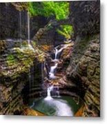 Rainbow Falls Of Watkins Glen Metal Print