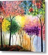 Rainbow Forest Metal Print by Shilpi Singh