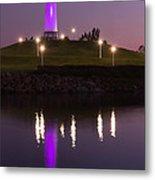 Rainbow Harbor Lighthouse Metal Print