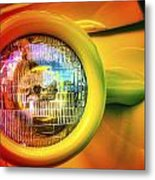 Rainbow Headlight Metal Print