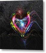 Rainbow Heart Metal Print by Linda Sannuti