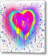 Rainbow Heart Metal Print