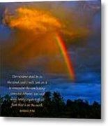 Rainbow In The Cloud Metal Print