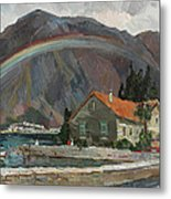 Rainbow In The Mountains Metal Print
