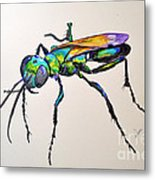 Rainbow Insect Metal Print