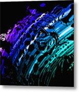 Rainbow Jaguar Metal Print