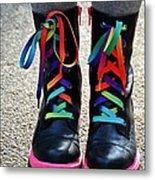 Rainbow Laces Metal Print