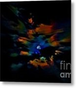 Rainbow Moon Metal Print