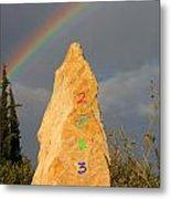 Rainbow New Year 2013 Metal Print