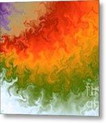 Rainbow On Fire Metal Print