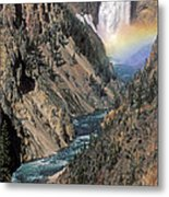 Rainbow On The Lower Falls Metal Print