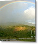 Rainbow Over Boquete Metal Print