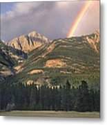 Rainbow Over Colin Range Jasper Np Metal Print
