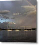 Rainbow Over Essex Metal Print