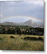 Rainbow Over Lake Estes Metal Print
