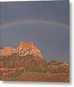 Rainbow Over Mt Johnson Metal Print