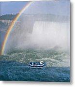Rainbow Over Niagara. Metal Print