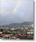 Rainbow Over Oslo Metal Print