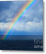 Rainbow Over The Atlantic Ocean Metal Print