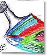 Rainbow Paintbrush Metal Print
